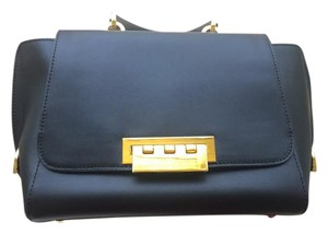 Zac Posen Leather Eartha Iconic Top Handle Satchel in Black