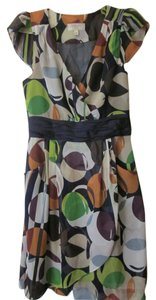 Moulinette Soeurs short dress navy multi-print on Tradesy