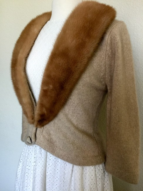 Gus Gennetti Sweaters Vintage Luxury Fur Mink Cashmere Cardigan