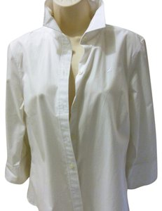 Nautica Button Down Shirt White
