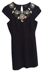 bebe Jeweled Cocktail Lbd Dress