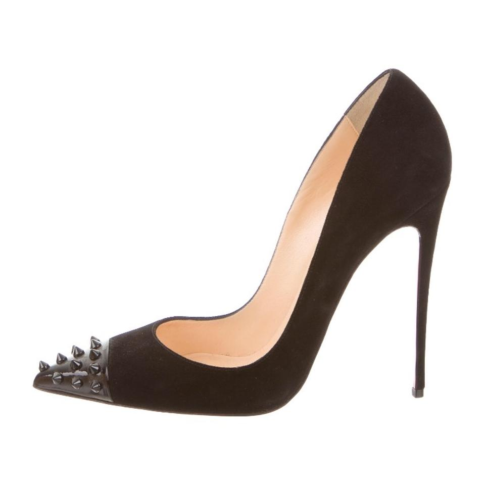new product a64cb d457f Black Suede Geo Pumps