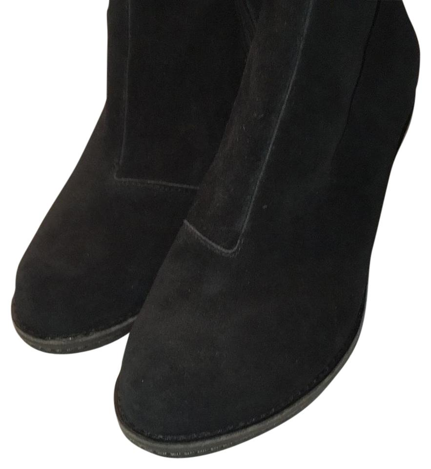 cfb9696e7a5 Cole Haan Black Suede Rayna Waterproof Boots Booties Size US 7.5 ...