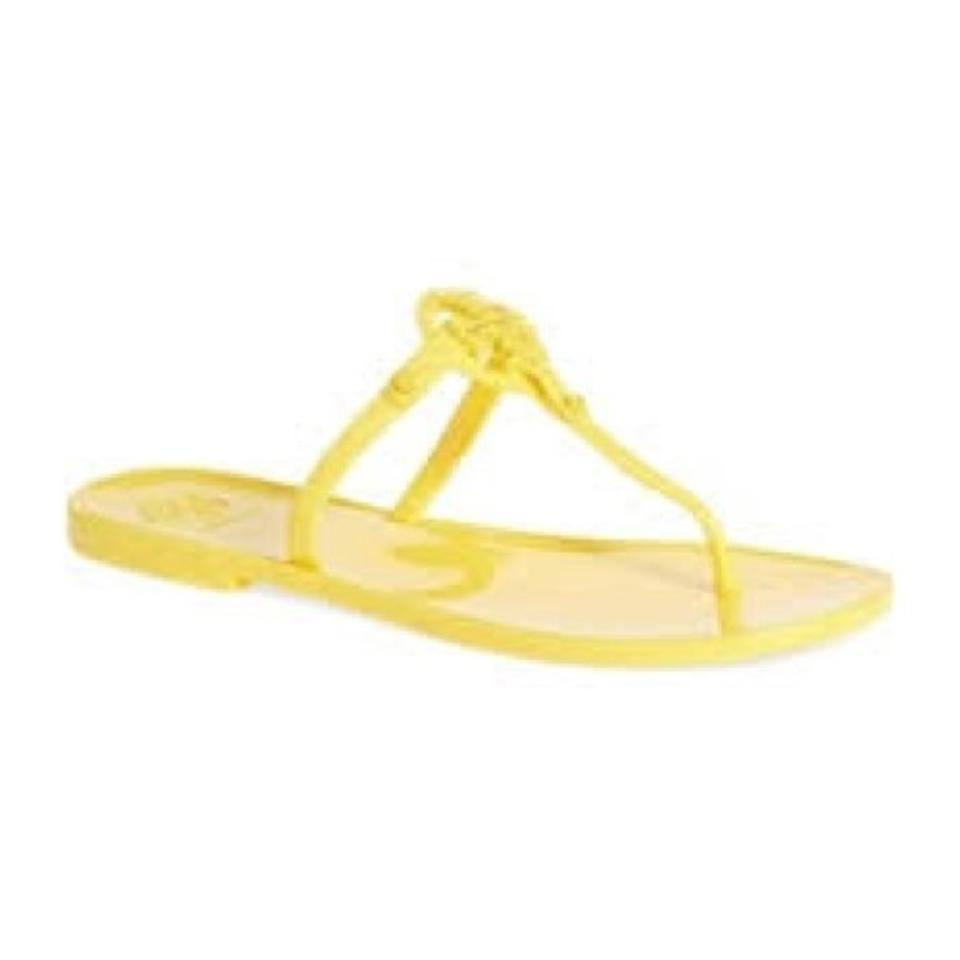 2f7773e1d682 Tory Burch Yellow Mini Miller Jelly Thong Sandals Size US 5 Regular ...