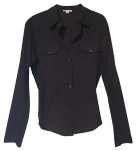 James Perse Button Down Shirt Black