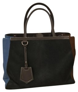 Fendi Tote in Brown Black Navy