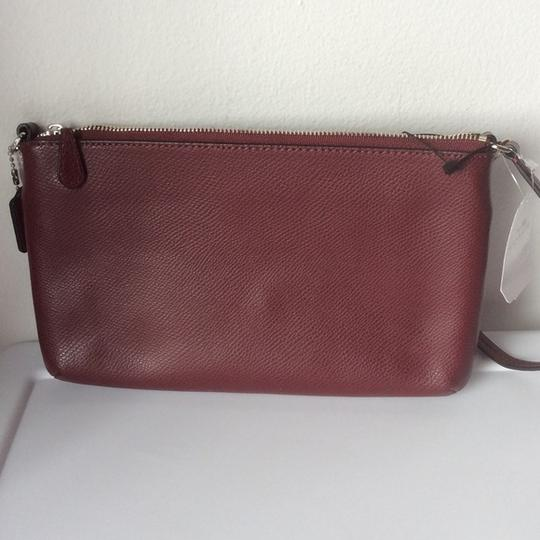Coach New With Tags Wristlet in Burgundy / Leopard Image 2