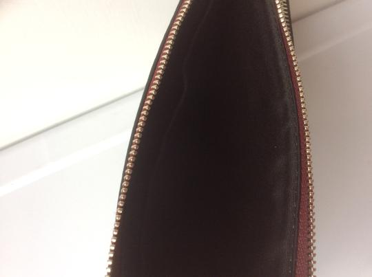 Coach New With Tags Wristlet in Burgundy / Leopard Image 5