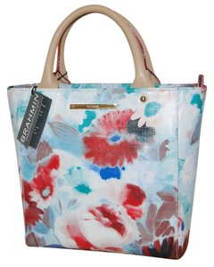 Brahmin Harrison Carryall Floral Crossbody Margeaux Tote in Turquoise