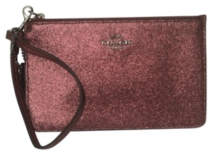 Coach Nwt New With Tags Wristlet in Metallic Cherry
