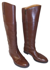 Enzo Angiolini Knee High Leather Eaellerby Riding brown Boots
