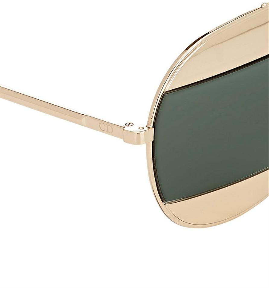 8daab84ba273 Dior Rose Gold Grey Green Split 59mm Aviator Gold Grey Sunglasses ...