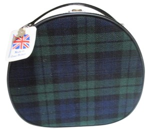 Tartan/Green Blue Black Round Fabric with Key Tartan Retro Travel Bag