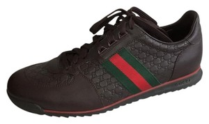 Gucci Gg Web Lace-up Dark Brown Athletic