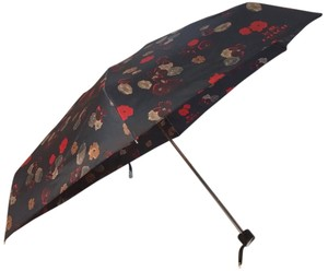 Coach Coach Vintage Rose UMBRELLA WITH SLEEVE 56052 Black NWT