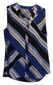 Banana Republic Top Blue white and black