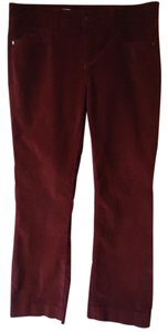 Anthropologie Corduroy Burgundy Straight Pants
