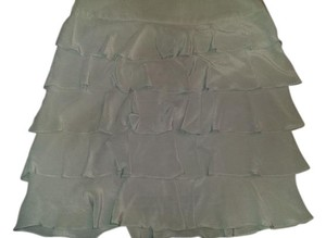 Talbots Silk Ruffled Grey Size 8 Skirt Grey/silver