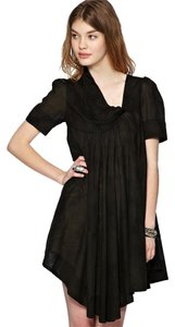 AllSaints short dress Black Tie Dye Asymmetrical Grunge All on Tradesy