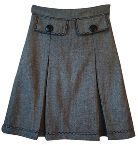 Anthropologie Tweed Wool Blend Pleated Hazel Skirt