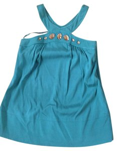 Arden B. Teal S Embellished Top green