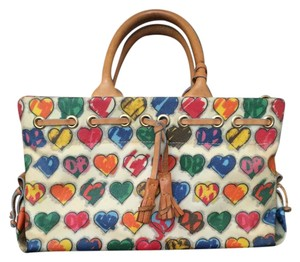 Dooney & Bourke Leather Tassels Charm Tote in multi