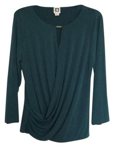 Anne Klein Top Dark green