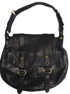 Andrew Marc Leather Magnetic Pockets Shoulder Bag