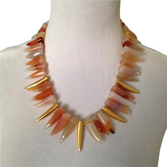 Preload https://item1.tradesy.com/images/kenneth-jay-lane-multi-orangegold-multicolor-agate-tooth-necklace-1995820-0-0.jpg?width=440&height=440