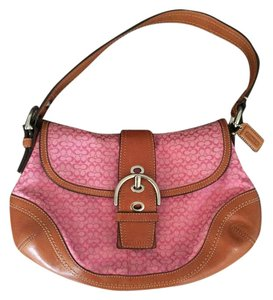 Coach Pink Monogram Hobo Shoulder Bag