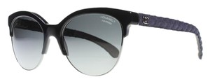 Chanel Chanel Pantos Quilted Sunglasses (Black)