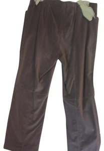 Sigrid Olsen 2 Front Pockets Straight Pants LIGHT BROWN