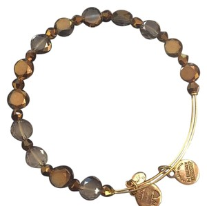 Alex and Ani Cocoa Flare Beaded Bangle