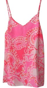 Lilly Pulitzer Top Trunk in Love pattern (hot coral)