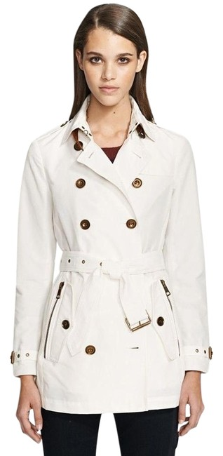 Item - Optic White Brooksby Double Breasted Coat Size 10 (M)