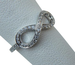 Tiffany & Co. Infinity Ring in Platinum with .13 ctw Diamonds