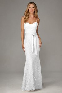 Mori Lee Ivory 127 Modern Bridesmaid/Mob Dress Size 4 (S)