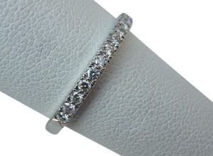 Tiffany & Co. Novo Platinum Half Eternity Diamond 2mm Wedding Band Ring size 6