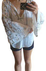 Urban Outfitters Top White, Blue, Gold