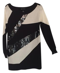 INC International Concepts Top Black/Ivory