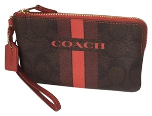Coach Nwt New With Tags Wristlet in Brown / Red