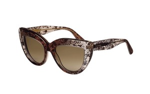 Valentino NEW Sunglasses V709S c. 241 in Brown Faded Lace w/ gradient lens