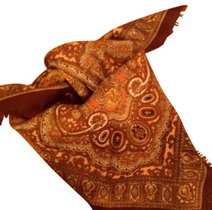 Other Vintage Brown Paisley Scarf
