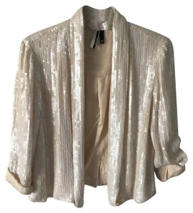 Topshop Off white, pearlescent, sequins Blazer