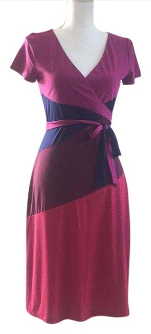 Item - Red/Purple/Burgundy/Navy Wrap Mid-length Night Out Dress Size 4 (S)