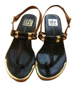 Dolce Vita Wedges Thong Black Sandals