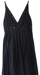 Guess Embellished A-line Sequin Beaded Cotton Dress