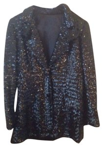 Other Sequin New Years Jacket Sparkle Black Blazer