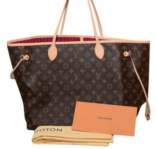 Louis Vuitton Neverfull Gm Largest In Monogram W Pink