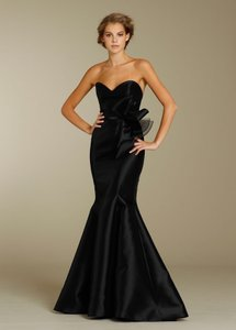 Lazaro Black Sweetheart Strapless Noir Lazaro Gown Dress